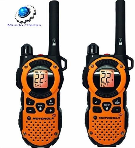 set 2 radios motorola mt350 resistentes al agua hasta 56kmts