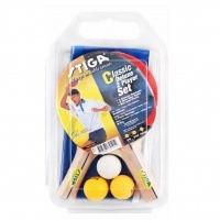 set 2 raquetas red y postes 3 bolas tennis mesa stiga classi