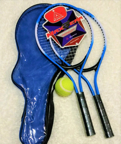 set 2 raquetas tenis junior + pelota