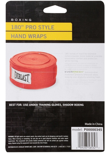 set 2 vendas everlast box mma kick boxing 4,5 mt colores