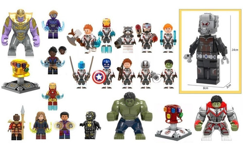 set 20 figuras avengers + set antman 14 cms. lego compatible