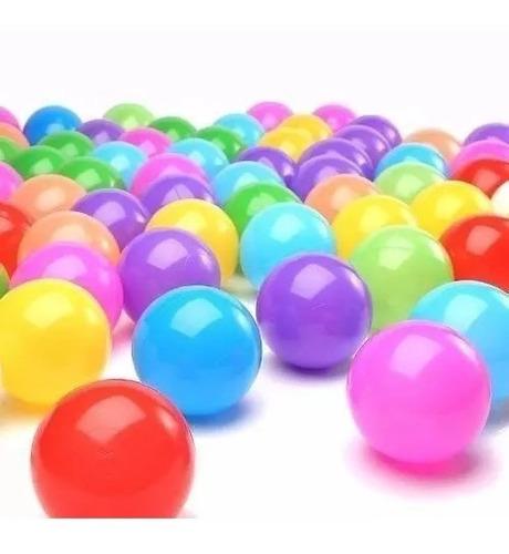 set 200 pelotas plásticas para piscina colores surtidos