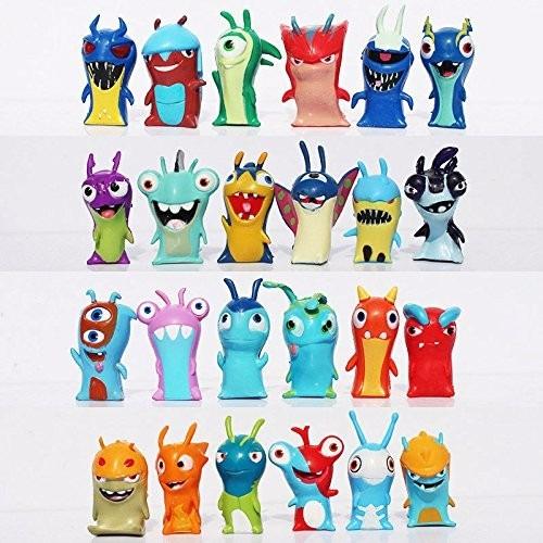 set 24 piezas de dibujos animados slugterra