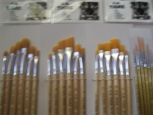set 24 pinceles artisticos pintura acrilico/oleo/maquillaje