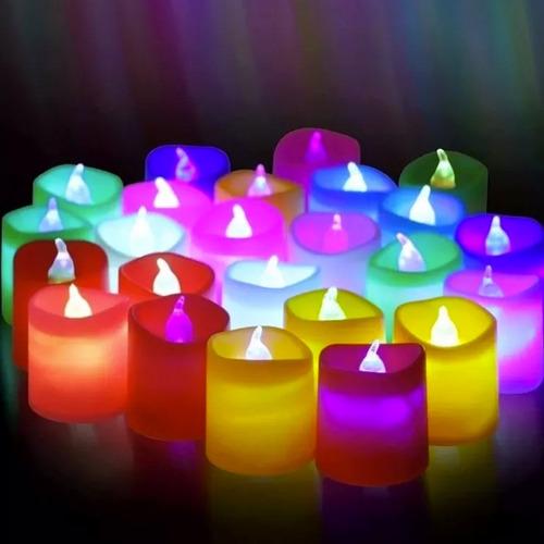 set 24 unidades velas led con luz