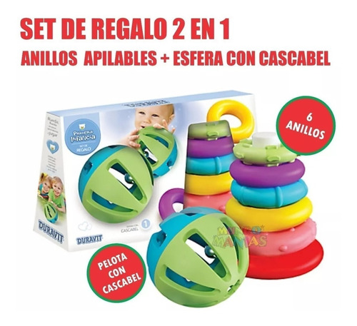 set 2en1 anillos apilables + pelota duravit