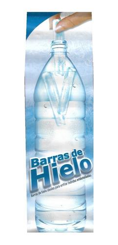 set 2pz recipiente para hacer hielos para botellas rojo