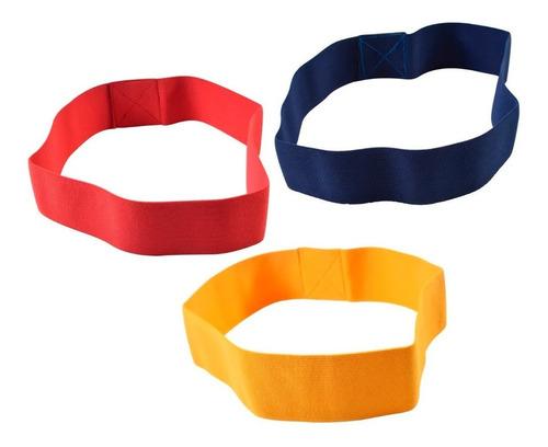 set 3 bandas circulares elasticas 5cm tela pro one tiraband