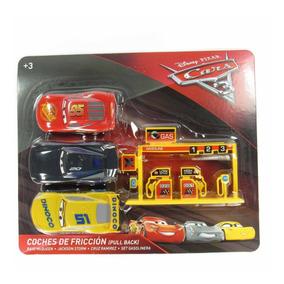 Cars3 Coches Retrotraccion Gasolinera Juguete Tm2 Set Y 3 mNvOnw80
