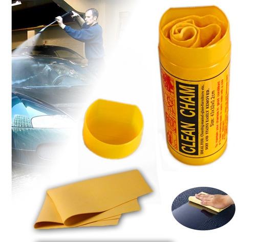 set 3 cueros paños auto moto de gamuza ultra absorbente
