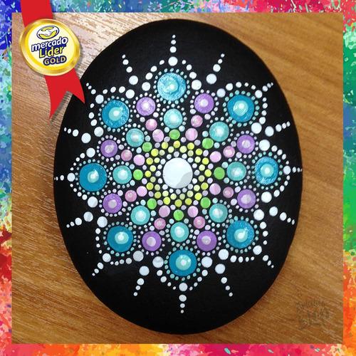 set 3 estrellas puntillismo dotting pinta puntos mandalas