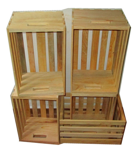 set 3 huacales de madera