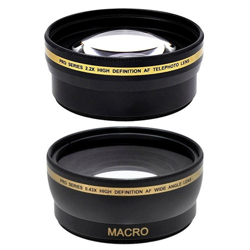 set 3 lentes 3 filtros parasol 55mm para sony alpha