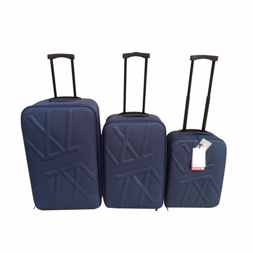 set 3 maletas marca paco martinez azul marino / el container