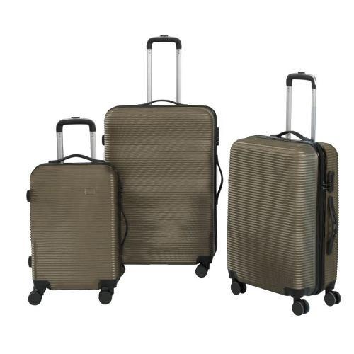 set 3 maletas rígidas con giro 360° beige / rebajas