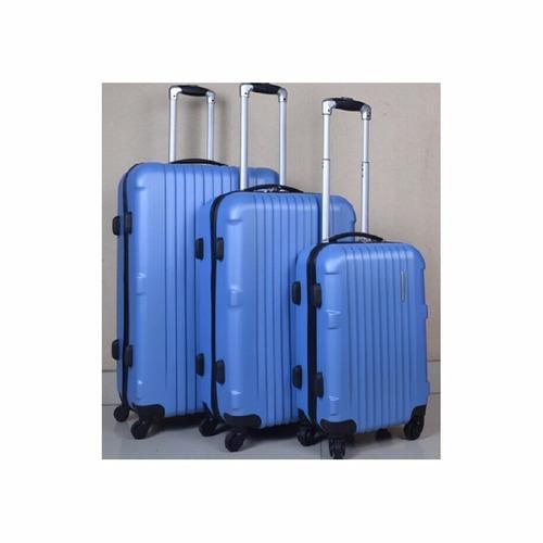 set 3 maletas rígidas con giro 360ª color azul