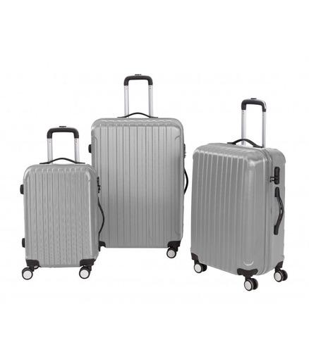 set 3 maletas rígidas con giro 360° color gris/ el container