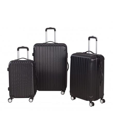 set 3 maletas rígidas con giro 360ª color negro