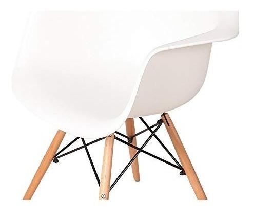 set 3 sillon eames  daw abse madera blanco - alto impacto