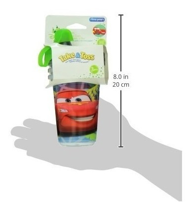 set 3 vasos de cars  disney 10oz / 296ml