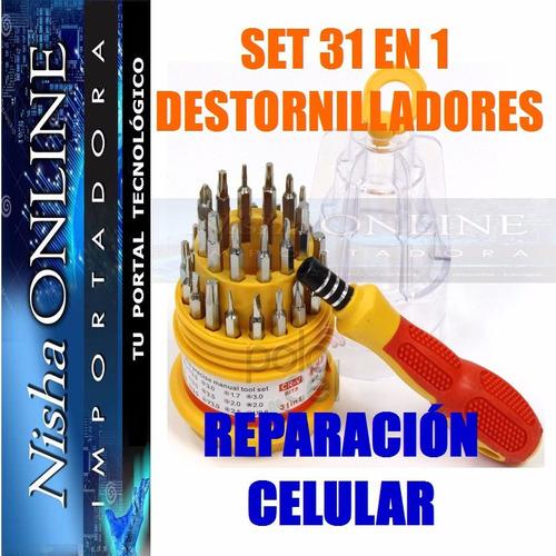 set 31 en 1 destornilladores reparación celulares torx iman