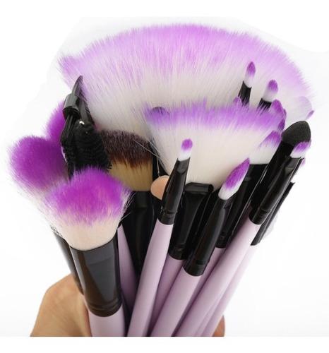 set 32 brochas maquillaje profesional ojos estuche sombras