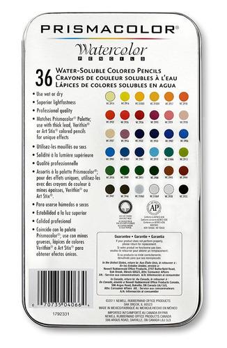set 36 lápices acuarela de colores prismacolor premier stock