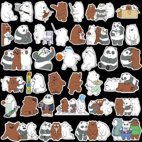 Set 36 Stickers Calcomanias We Bare Bears Osos Escandalosos