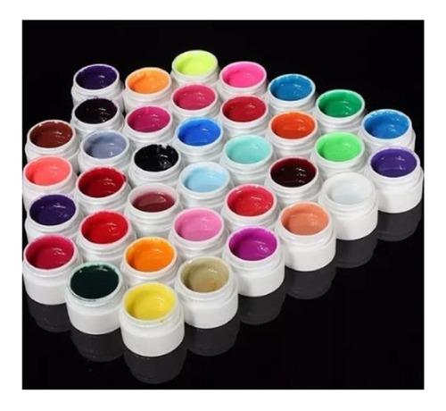 set 36 unidades gel paint uv sin glitter colores surtidos