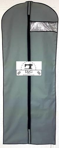 set 3pz porta traje 60x160 cm funda potectora vestido largo