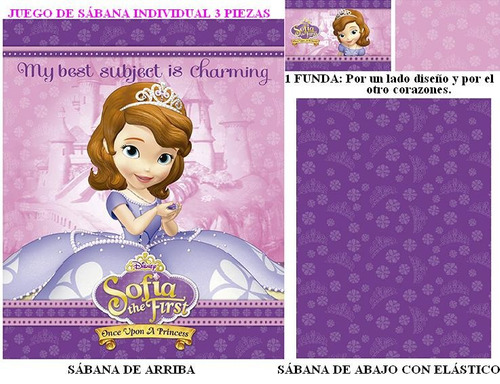 set 3uds sábanas princesita sofía original envio gratis