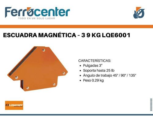 set 4 escuadras magneticas soldar lusqtoff 3'' lqe6001