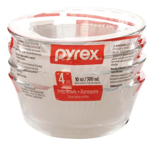 set 4 flaneras pyrex, 295 ml