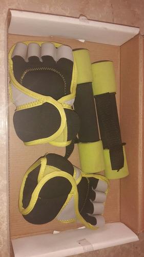 set 4 piezas de pesas 2 guantes 0,5kg 2 pesas de manos 1kg
