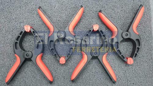 set 4 prensas de mano plastica 4 pulgadas pinza clamp zeex