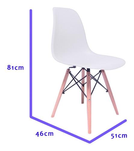 set 4 sillas eames blanca decoración interior modernas vinta