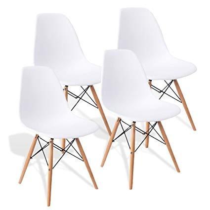 set 4 sillas eames decoración modernas vintage comedor hood