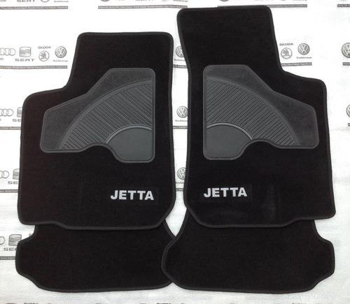 set 4 tapetes original jetta a4 clasico alfombra negro mk4