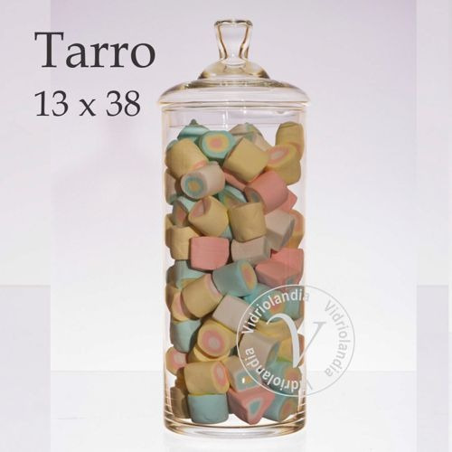 set 4 tarros carameleras bomboneras vidrio c/tapa candy bar
