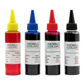 Set 4 Tintas 100ml. Recarga 4 Colores Dye-pig Para Hpp