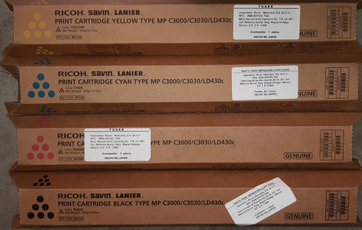 LD430C Print Cartridge Bl C3030 Genuine Ricoh Savin Lanier 841338   MP C3000