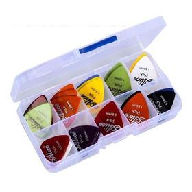 Set 40 Puas Plumillas Plectro Guitarra 0.58mm A 1.50mm Caja