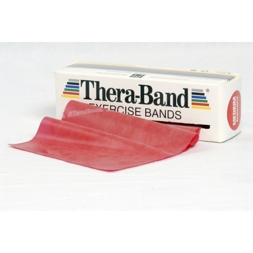 set 5 bandas elasticas roja theraband, envío gratis