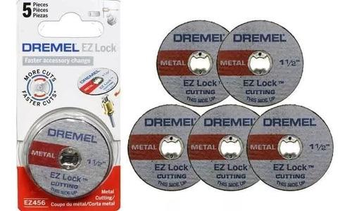 set 5 discos de corte para metal dremel ez456    minitorno