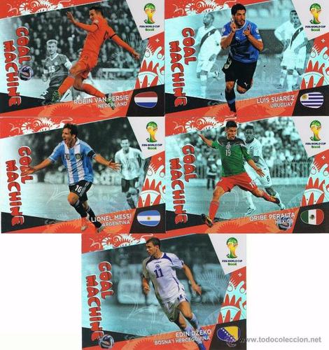 set 5 goal machine nordicos adrenalyn brasil 14 super raros!