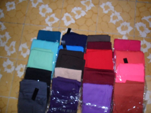set 5 leggins-mallones termicos afelpados 5 colores diferent