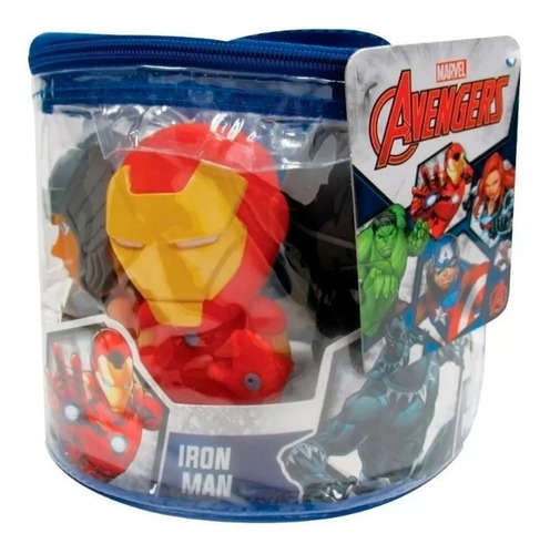 set 5 muñecos avengers 12 cm tapimovil estilo funko pop