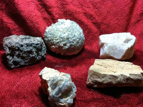 set 5 piedras y cuarzos de coleccion