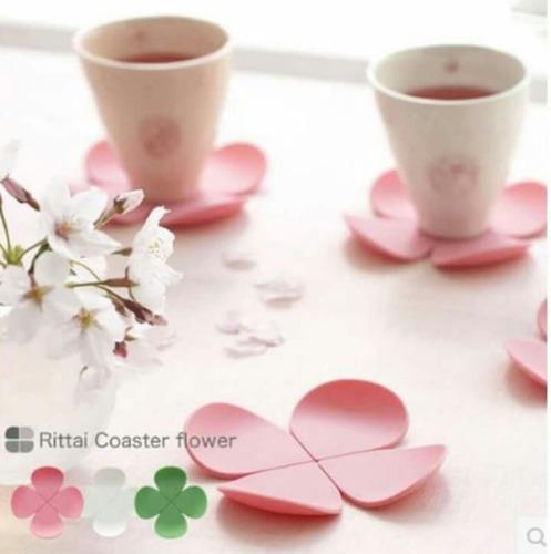set 5 posavasos silicona modelo flor