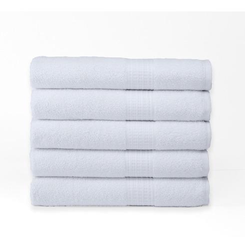 set 5 toallas de baño grandes - begônia - 100% algodón 440 gr/m² - 140cm x 80cm